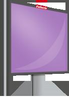 Affichage dynamique: clip vidéo de 10 secondes/minute, limité à 6 annonceurs/écran